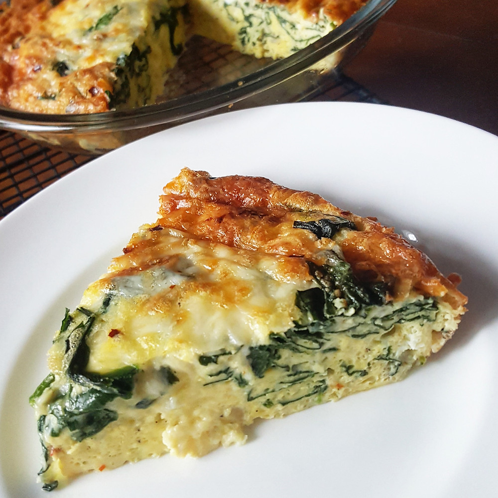 Crustless Spinach Cheese Quiche | Keto | Low Carb