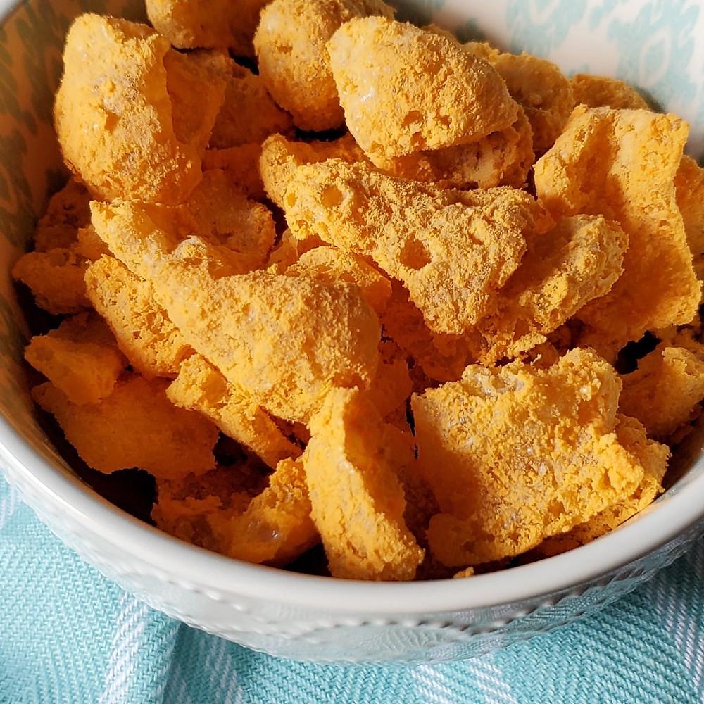 "Pork Rind Cheese Puffs ""Cheetos"" | Keto | Low Carb"
