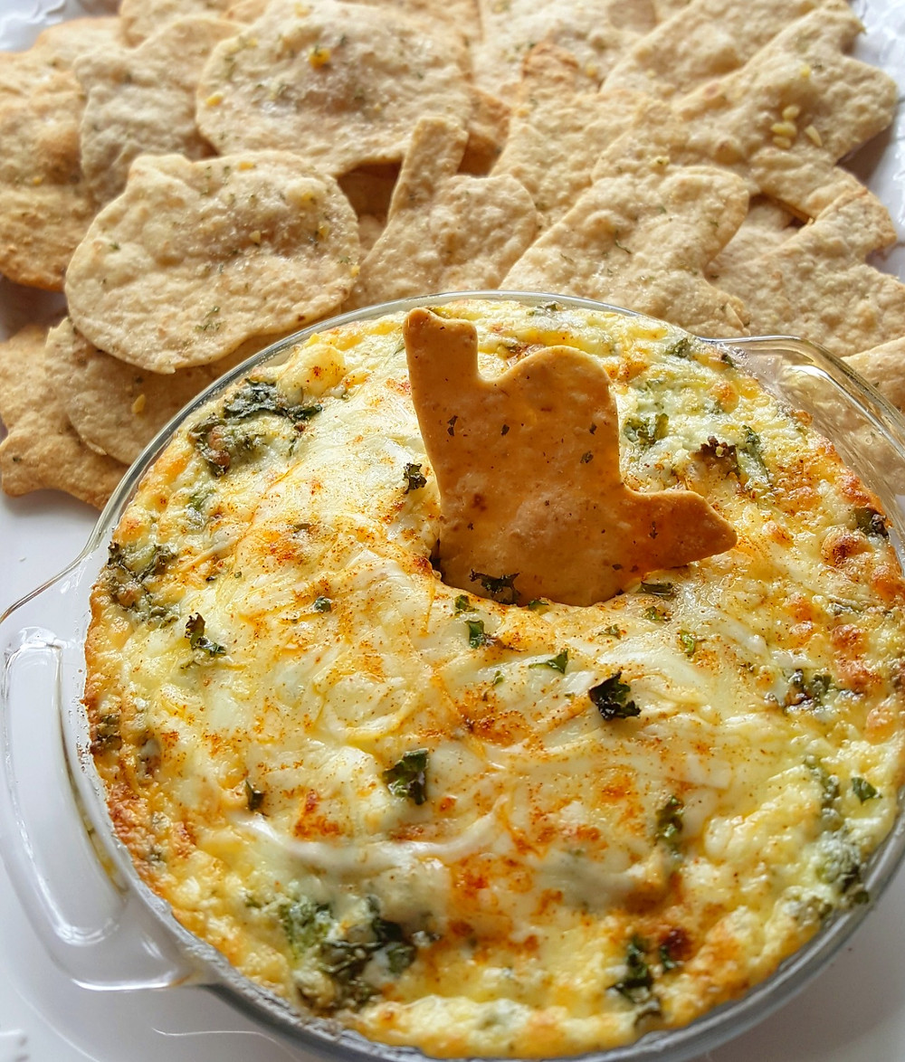 Halloween Creamy Kale & Artichoke Cheese Dip | Low Carb | Keto