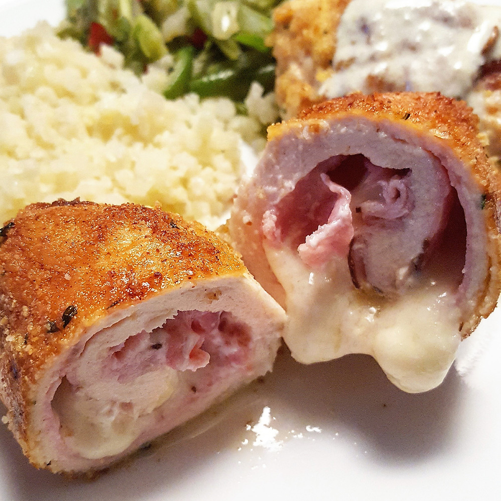 Chicken Cordon Bleu Low Carb Keto Gluten Free