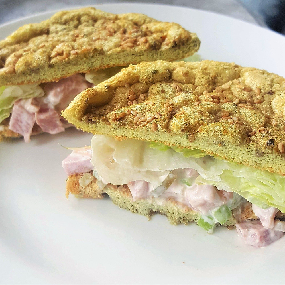 Classic Ham Salad with Avocado Cloud Bread | Keto | Low Carb