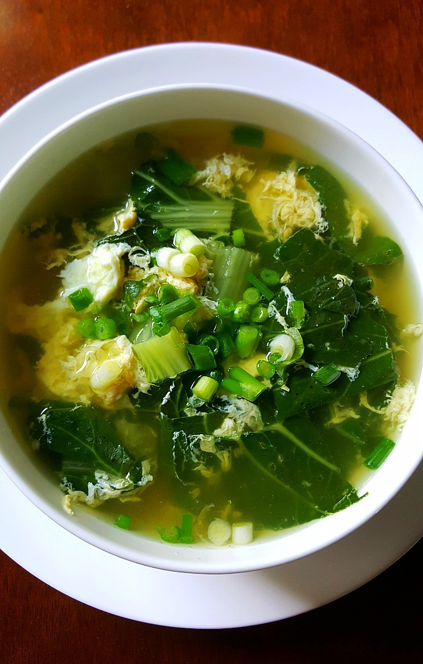 Bok Choy Egg Drop Soup Low Car Keto Healthy Eating Paleo Whole30 Primal