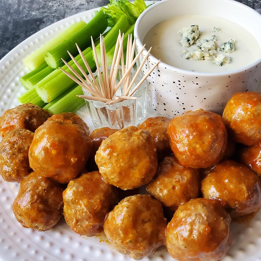 Buffalo BBQ Meatballs | Keto | Low Carb