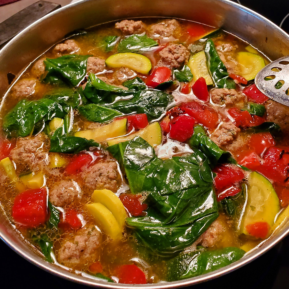Meatball Vegetable Soup | Keto | Low Carb