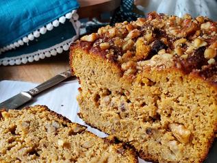 Pumpkin Bread with Walnuts | Keto | Low Carb | Gluten-Free | Paleo