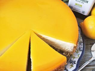 Olive Oil Lemon Curd Cheesecake | Keto | Low Carb | Sugar-Free | Gluten-Free