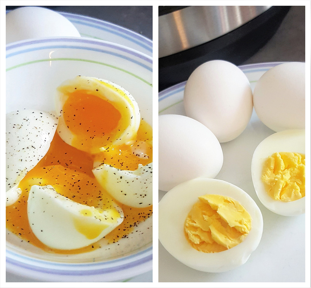 Perfect Instant Pot Soft & Hard Boiled Eggs Low Carb Keto