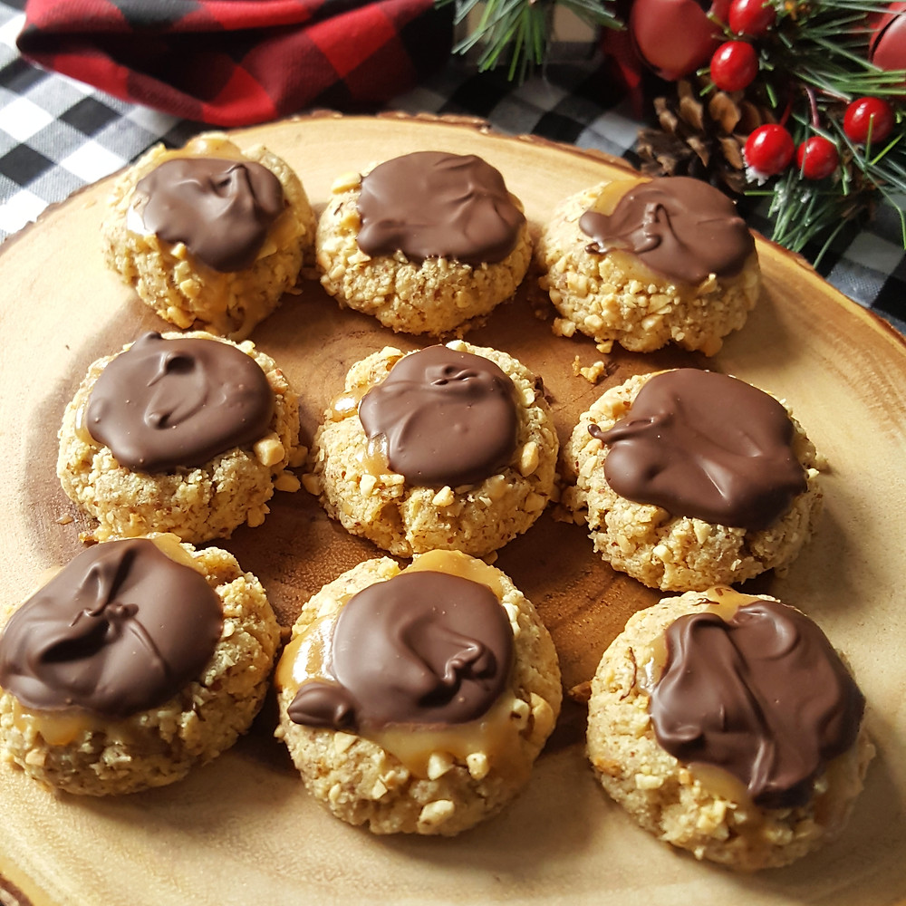 Turtle Thumbprint Cookies | Low Carb | Keto | Gluten-Free | Sugar-Free