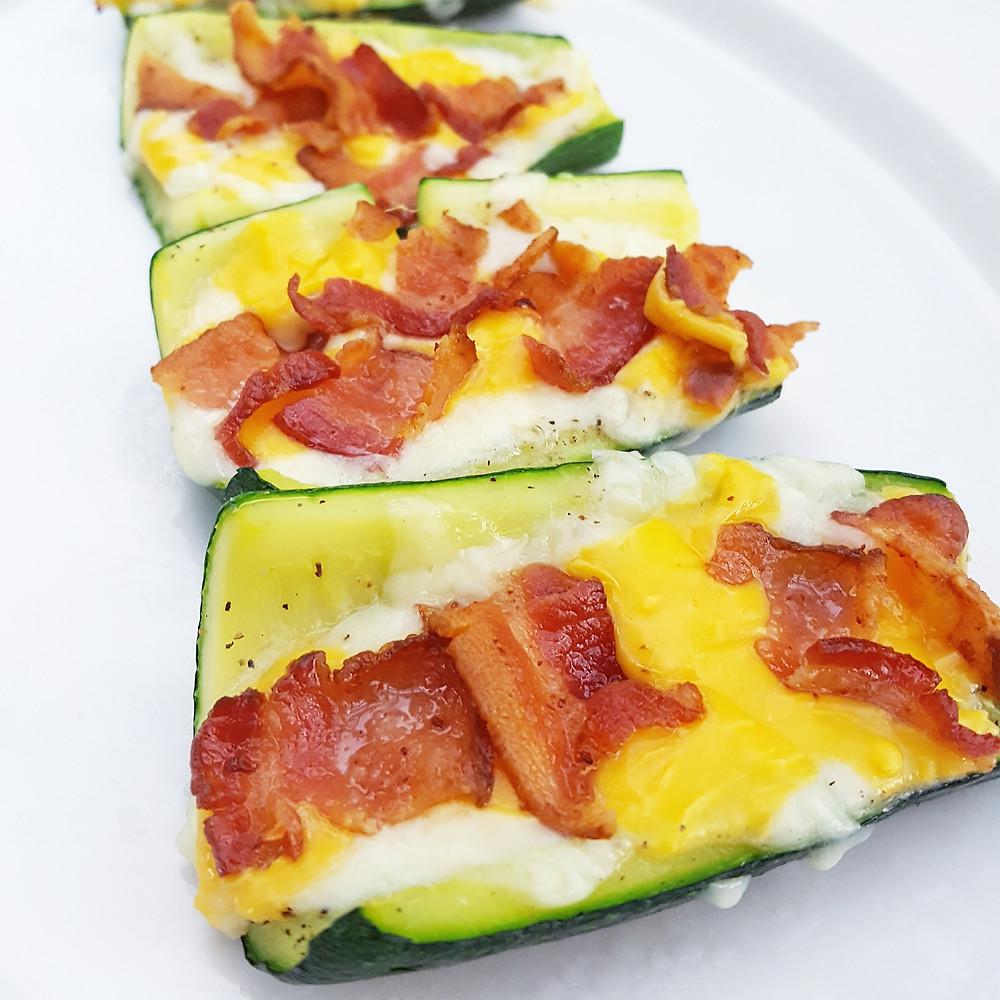 Low Carb Loaded Zucchini Skins Keto Loaded Zucchini Skins