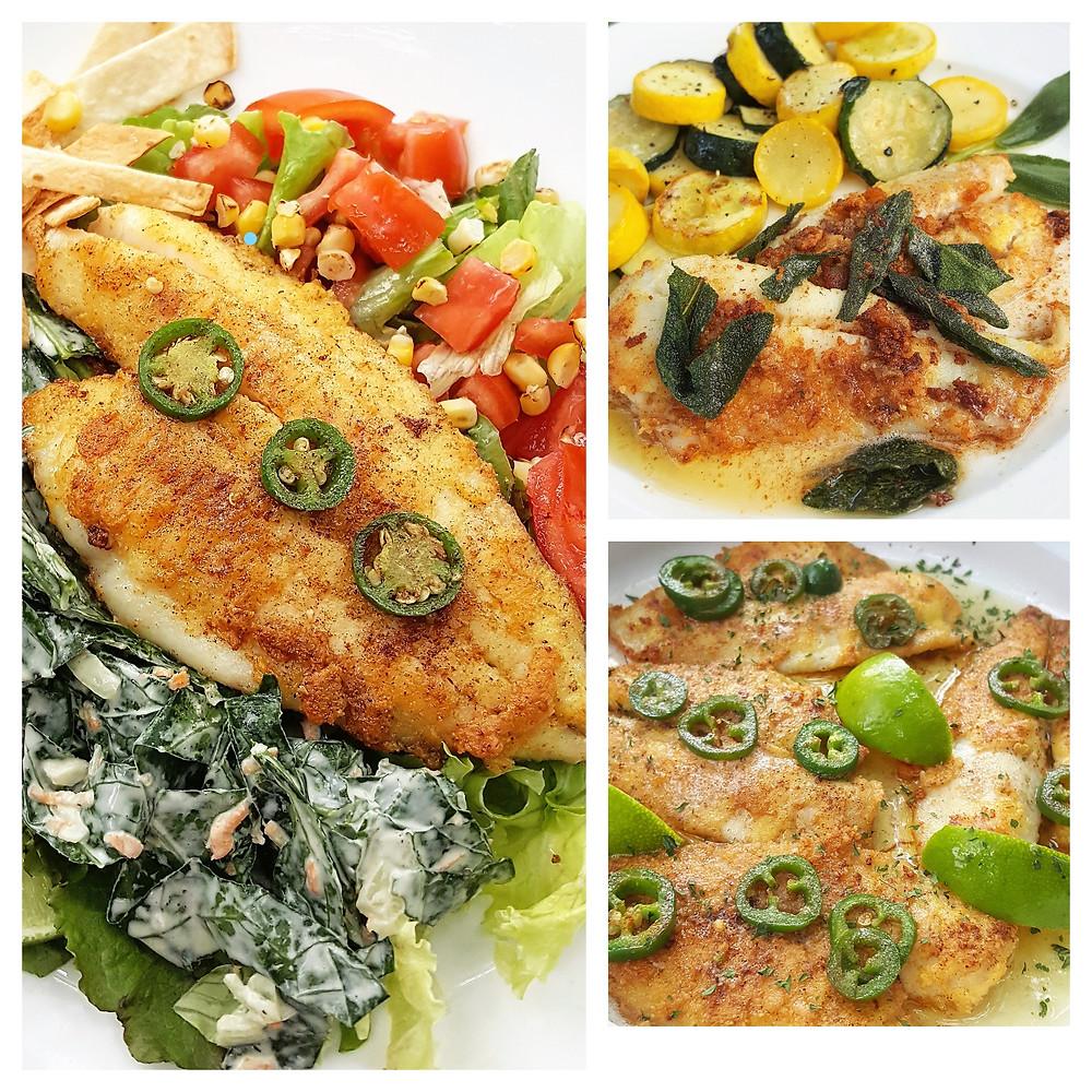 Lupin Flour Pan Fried Fish | Low Carb | Keto