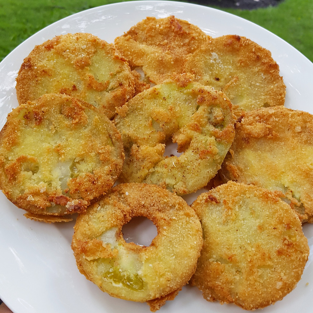 Low Carb | Keto Fried Green Tomatoes