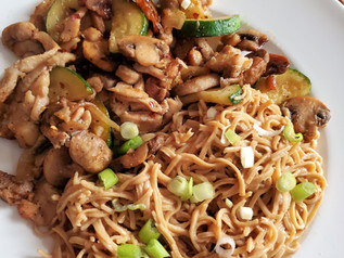 Chicken Veggie Stir-Fry with Peanut Noodles | Keto | Low Carb