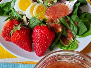 Strawberry Poppyseed Salad Dressing | Keto | Low Carb | Paleo | Vegan