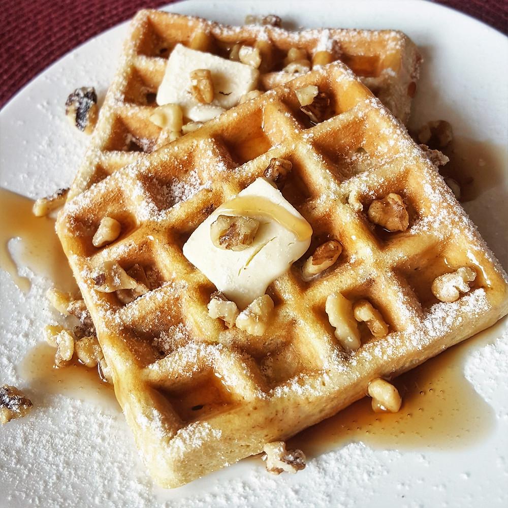 Banana Nut Waffles Low Carb Gluten Free  Keto