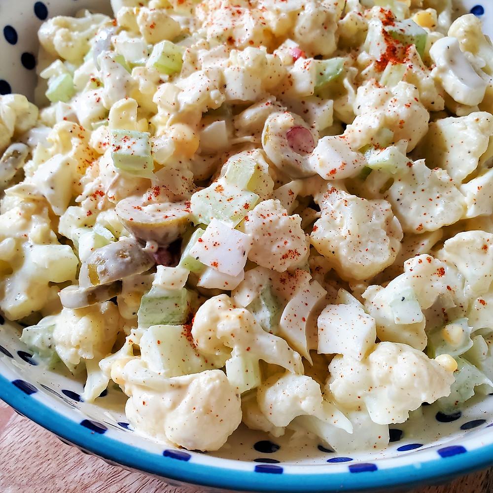 Mock Potato Salad | Keto | Low Carb