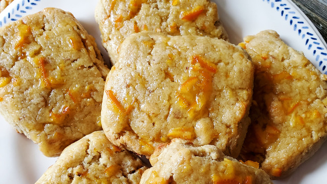 Orange Glazed Scones with Walnuts   Keto   Low Carb   Gluten-Free