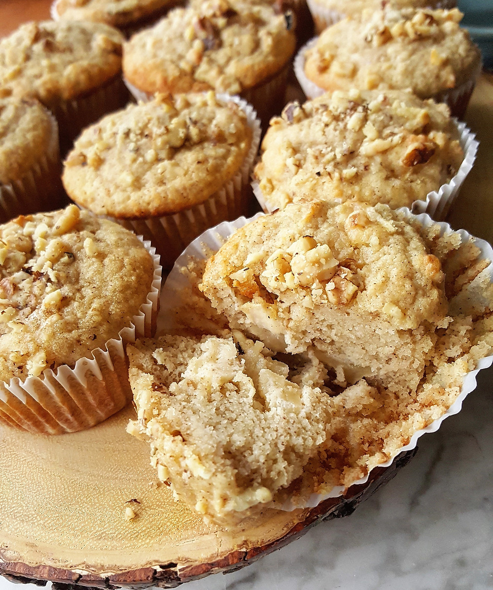 Low Carb Gluten-Free Apple Walnut Muffins