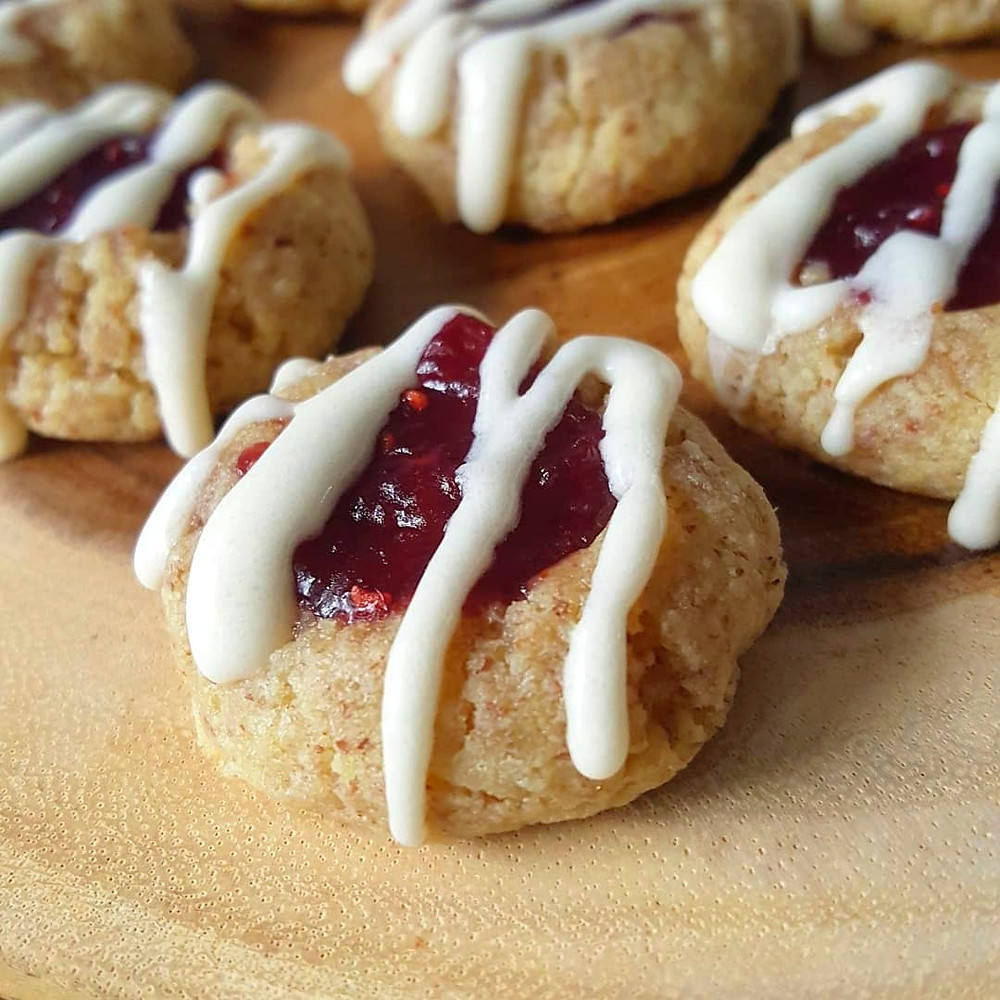 Raspberry Thumbprint Cookies | Keto | Low Carb | Gluten Free