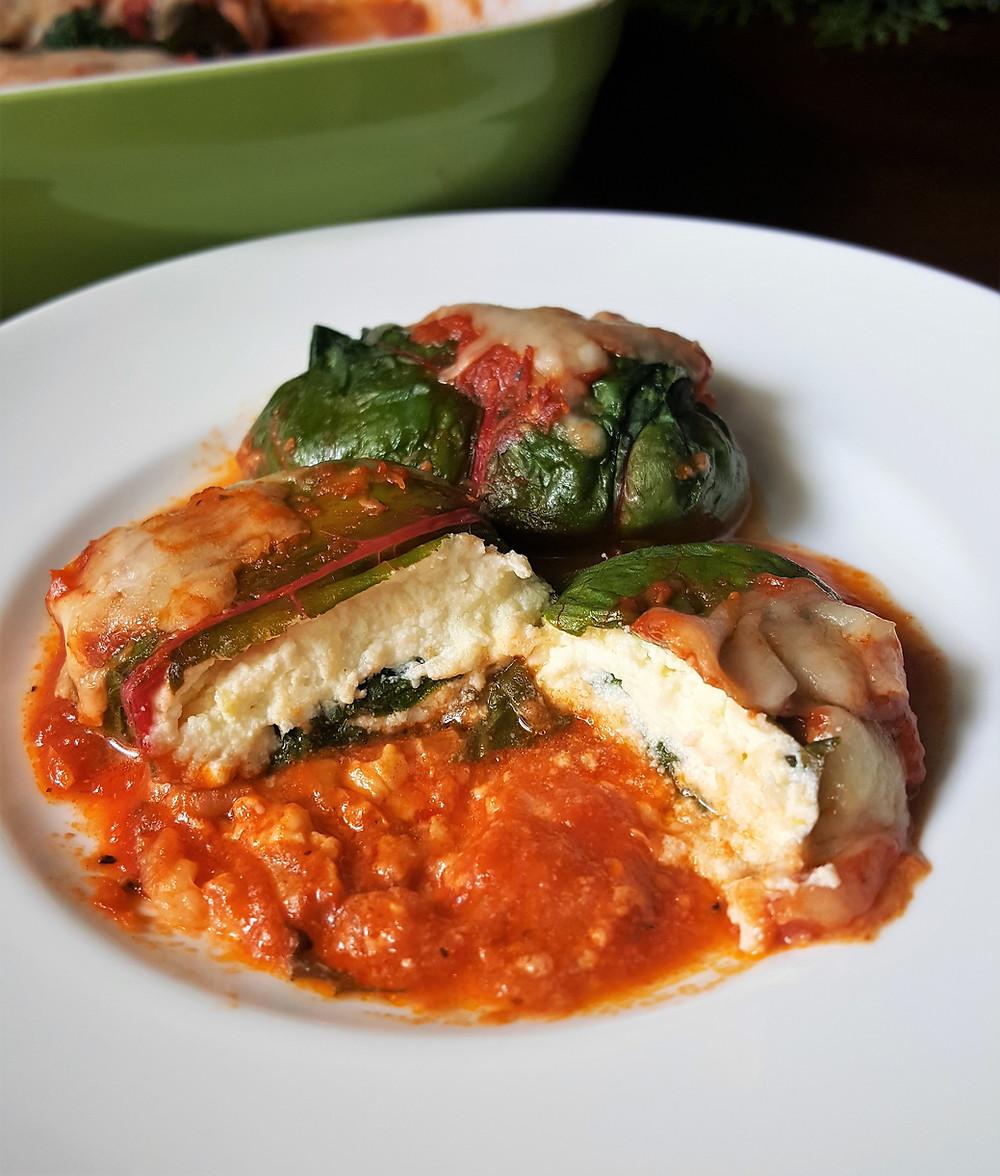 Ricotta Stuffed Swiss Chard | Low Carb | Keto | Gluten-Free  | Healthy Eating
