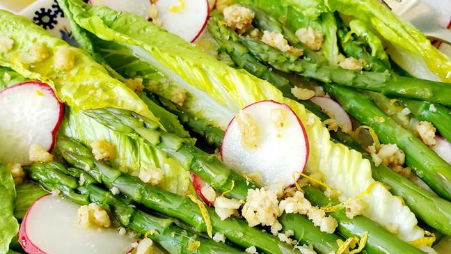 Spring Asparagus Salad With Lemon Vinaigrette - Keto   Low Cab   Gluten-Free