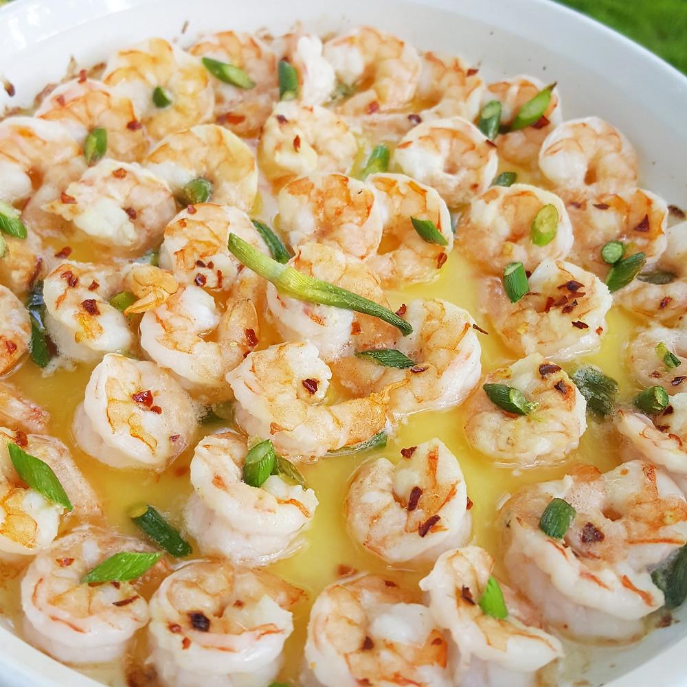 Garlic Scape Shrimp Scampi | Low Carb | Keto