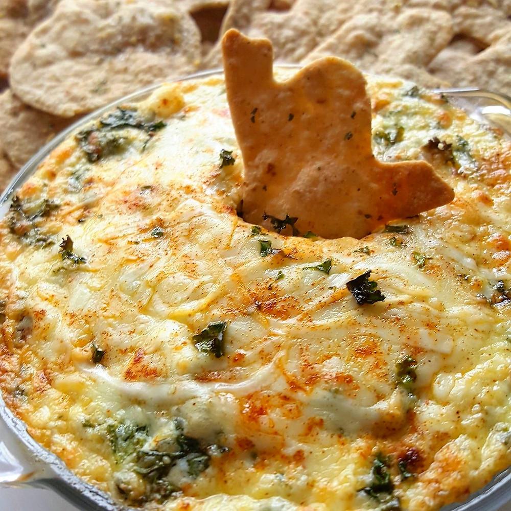 Halloween Creamy Kale & Artichoke Cheese Dip | Low Carb | Keto