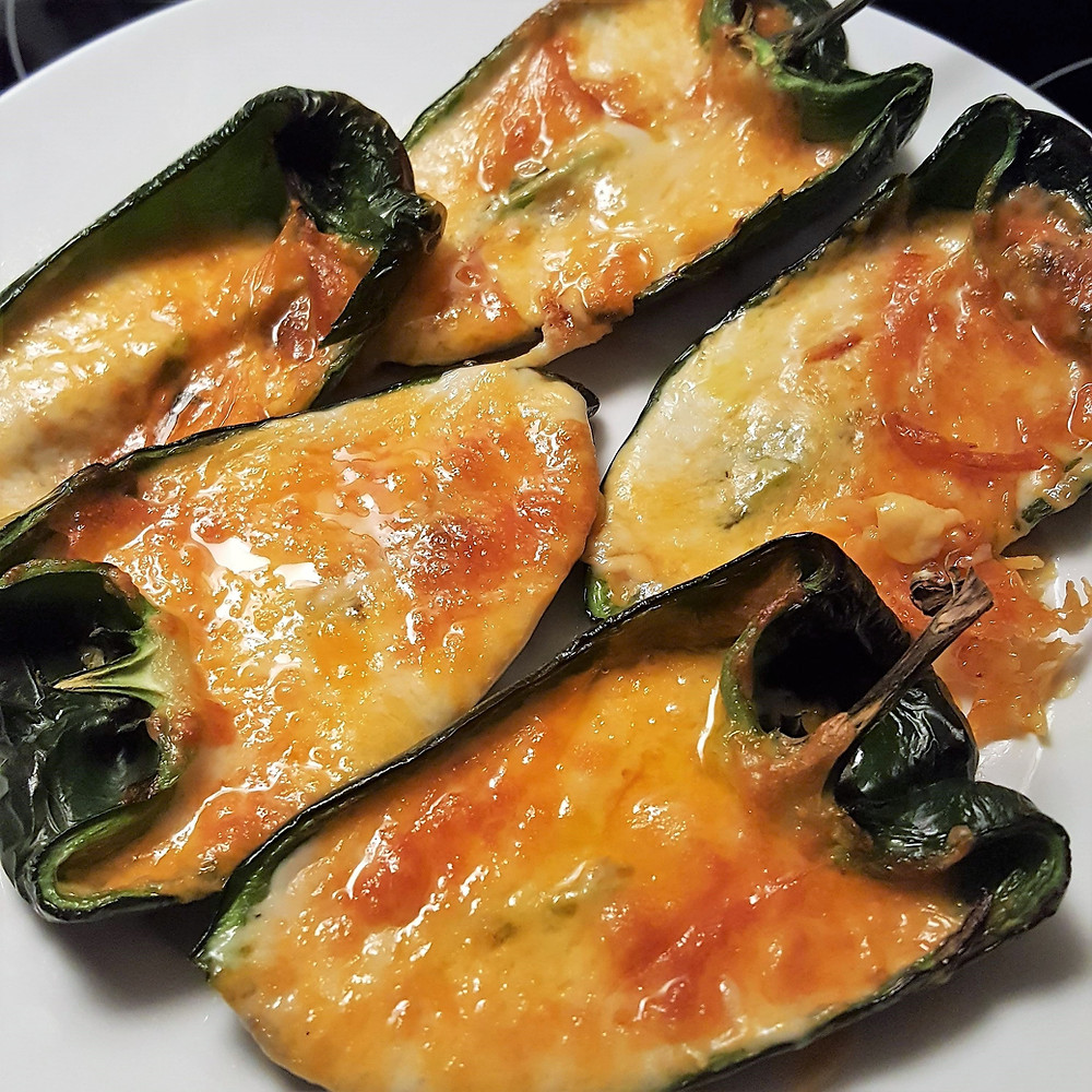 Air Fryer Cheesy Stuffed Poblano Peppers