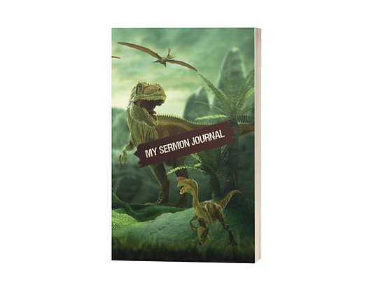My Sermon Journal: Dinosaur Theme for Kids