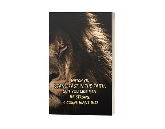 Be Strong Sermon Notes Journal: Lion