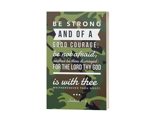 Be Strong and of a Good Courage Sermon Notes Journal: Camo