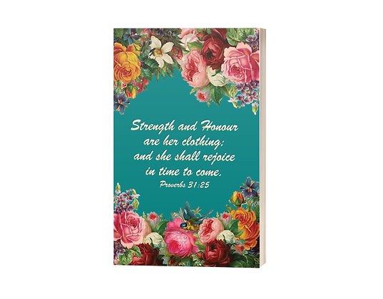 Strength and Honour Sermon Notes Journal: Floral