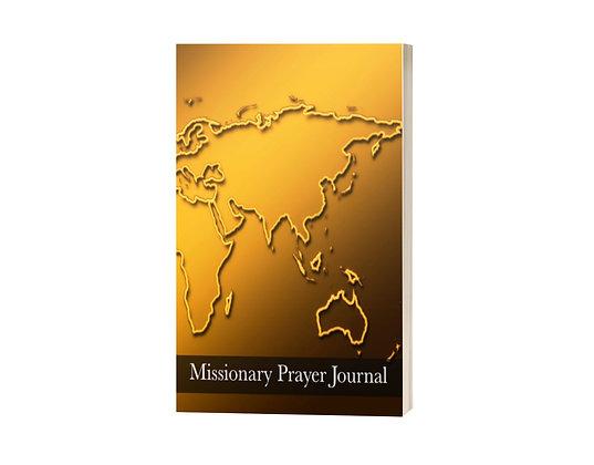 Missionary Prayer Journal: Golden Global Map