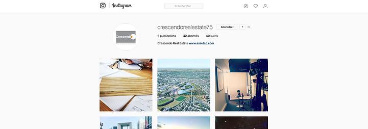 crescendo immobilier real estate paris france architecture construction promotion immobilière instagram hashtag compte contenu image photo partage