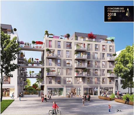 crescendo immobilier real estate paris promotion immobilière concors sevran westinghouse pyramides d'or projet construction bâtiment immeuble