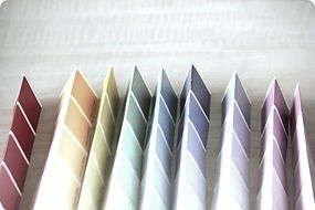 folded paint chip cards