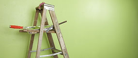 Old wood painters ladder