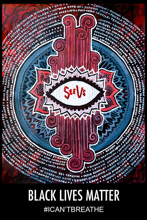 """""""See Us""""  by Artist Aly Mae Poster or Print of Acrylic painting"""