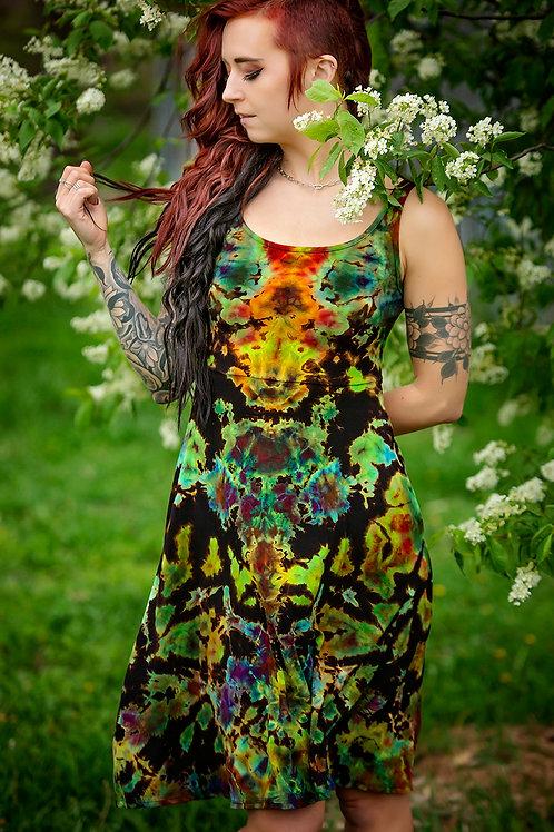 Alien Sunrise Tank Dress W/Pockets- Artist Maureen Phalen