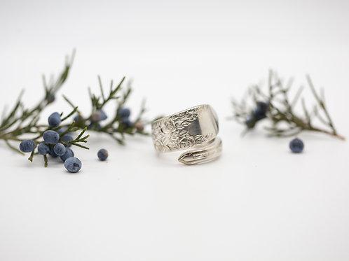 Rose Vine- Vintage Spoon Ring