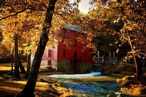 """Autumn Stillness"" - Mary Bailey Alley Mill MO"