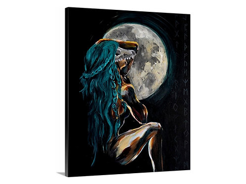 """Full Moon Ritual"" Reproduction Gallery Wrap Print"