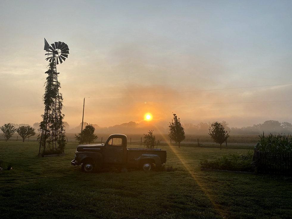 Photo of H.E. Art studio during the sunrise