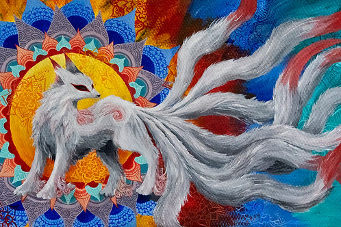 """Spirit Fox""- Print of Acrylic Painting by Aly Mae"
