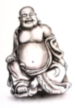 Buddha Wandgestaltung, Luzern, Auftrag, Barbara Enzler