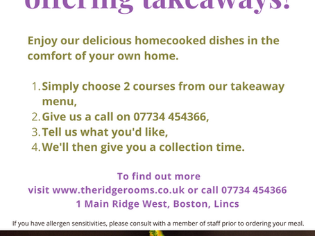 Try our Takeaway Service