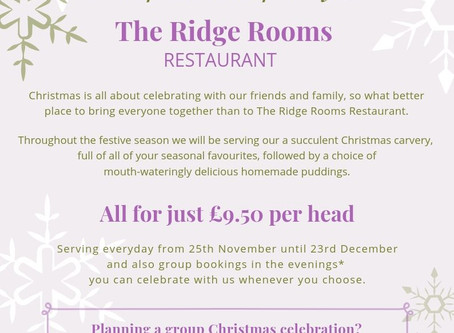 Celebrate the festive season at The Ridge Rooms