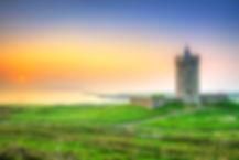 Beautiful irish castle near Atlantic oce
