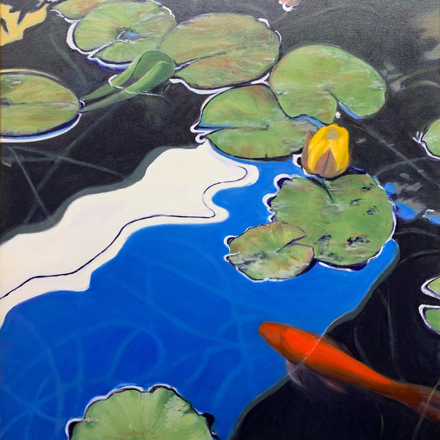 Reflections of a Koi Pond