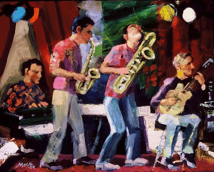 Jazz Ensemble, Oil on canvas