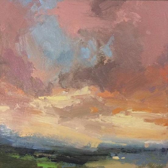 Palouse Sky, oil on panel